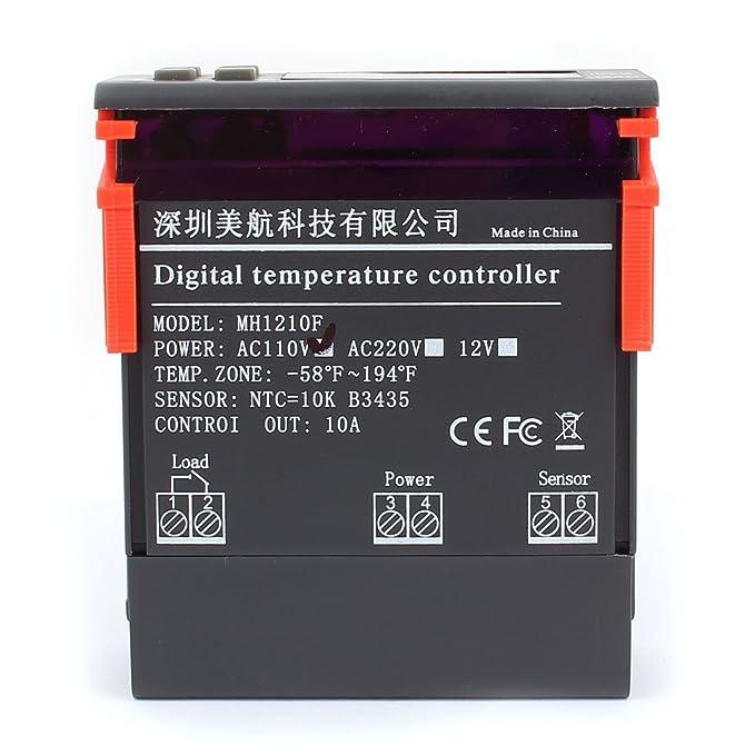 Amazon.com: eDealMax Controlador de temperatura CA 110V 10A ...