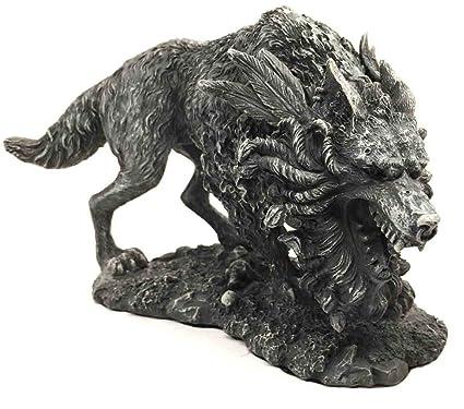Amazon.com  Viking Norse Mythology Fenrir Vánagandr Giant Wolf ... da62ae5e4