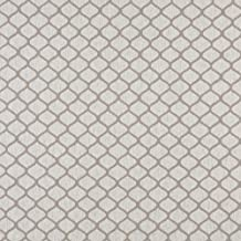 Beige Trellis Scroll on Natural Heavy Linen Upholstery Fabric by the yard