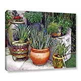 ArtWall Linda Parker's Southwest Potted Garden Gallery Wrapped Canvas, 24'' x 32''