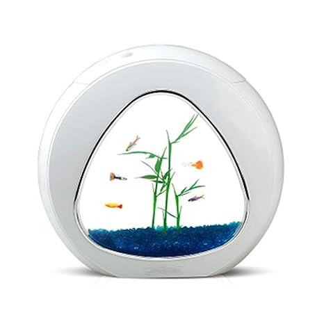 Super Pecera Mini De Moda Filtro De Iluminación De Circulación De Agua USB Regalo,White