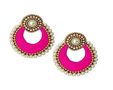 c33f71c14 Party Wear Silk Thread Jhumki with Designer Stud Earring for Women - Green,  Pink, Red, Purple, Violet, Orange, Marron, Magenta, Black, Blue, Grey,  Gold, ...