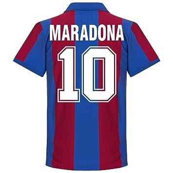 e2ada31e1 Copa 80-81 Barcelona Home Retro Shirt + Maradona 10 - XXL  Amazon.co ...