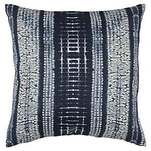 stone beam shibori inspired pillow 17 x 17 blue home kitchen. Black Bedroom Furniture Sets. Home Design Ideas