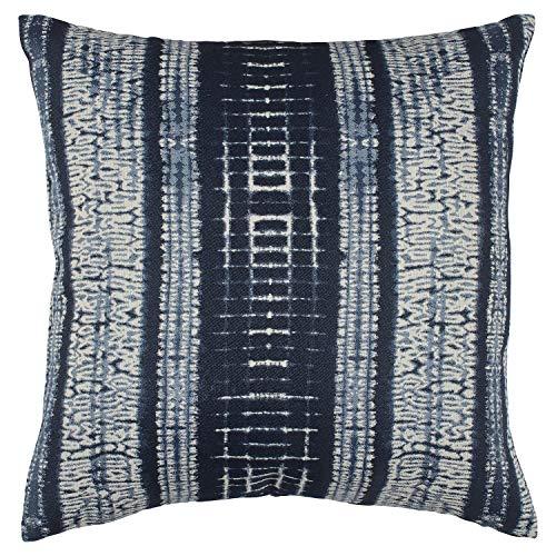 Stone & Beam Yarn-Dyed Shibori Decorative Throw Pillow, 17