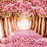SJOLOON 10x10ft Cherry Blossoms Street Poly Fabric Customized Backdrop CP Photography Prop Photo Background JLT-8461