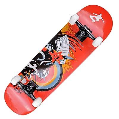 Skateboard en bois érable professionnel adulte/Double-up à roulettes/ brosse de route rue patiner pour hommes et femmes/Quatre roues skateboard/enfant4Patinage scooters