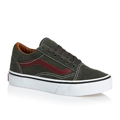 4e7622dbbb5b19 Vans Old Skool Boys Youth Canvas Shoes Junior 1 32 Gunmetal Brown Suede
