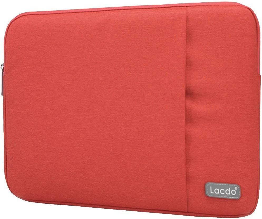 Lacdo Neoprene Sleeve Case Bag for Apple MacBook Pro, MacBook Air, ASUS, Toshiba, Dell Inspiron, Lenovo Yoga 2 Pro, HP Stream, HP Chromebook, Samsung, Sony, Acer and other 13-13.3-Inch Devices (Red)
