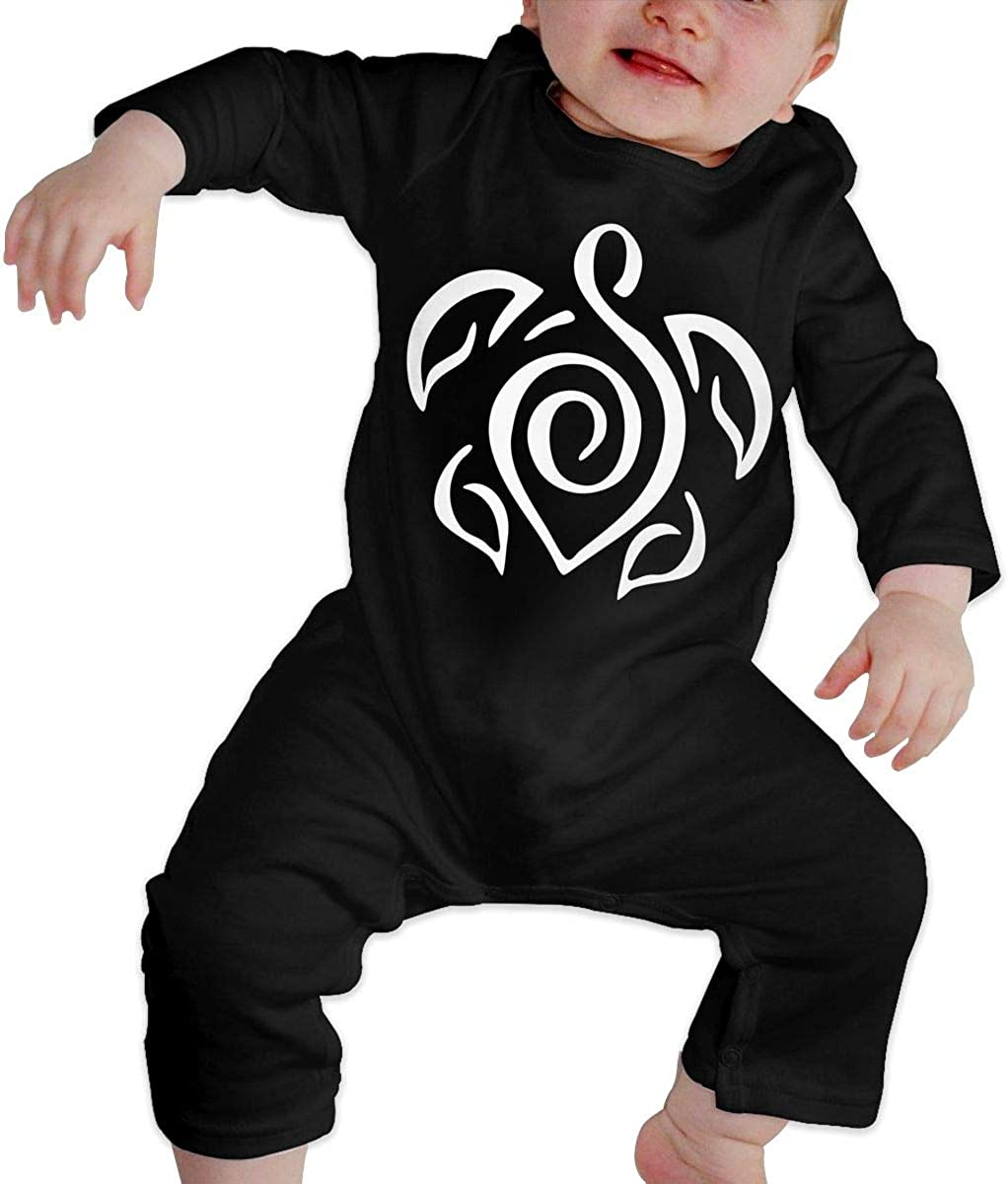 Baby Boys Romper Jumpsuit Tattoo Clipart Turtle-1 Organic One-Piece Kid Pajamas Clothes