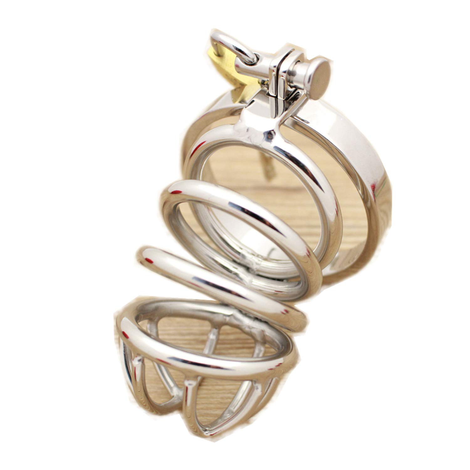 sensitives Male Chastity Device Stainless Steel Cock Short Cage Men's Virginity Lock, Small Chastity Belt Adult Game Sex Toys 38mm