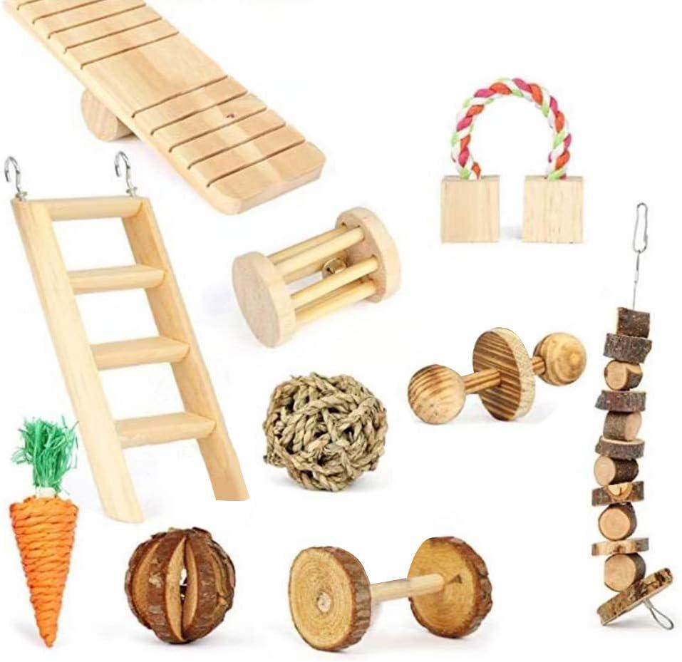 10 escaleras de madera para zanahoria, cobayo, chinchilla, juguetes mordedores, juguetes para masticar mascotas, accesorios públicos para mascotas, 1 color, talla única: Amazon.es: Deportes y aire libre