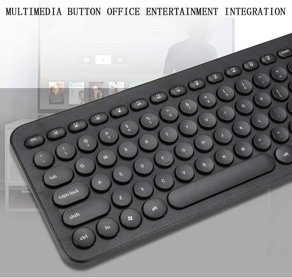 XPFF Keyboard and Mouse Set Wireless Computer Mouse Keyboard Punk Key Cap Ergonomic Design Waterproof dustproof Comfortable and Durable for Game Work