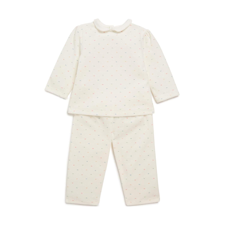 657bacdf31a65 Bout Chou - Pyjama imprimé - Mixte bébé - Taille   2 Ans - Couleur   Blanc   Amazon.fr  Vêtements et accessoires