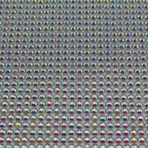 CraftbuddyUS AB Clear 5mm Bulk Sheet 1500 Self Adhesive Diamante Stick on Rhinestone Gems