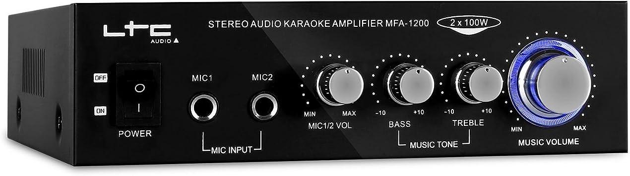 Ltc Audio - Stereo Karaoke Amplificador 2 X 50W Mfa1200Bl ...
