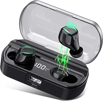 HETP Auriculares Bluetooth, Auriculares Inalámbricos Deporte con ...