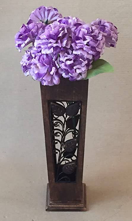 Antique Wooden Planter Gift Item Flower Vase Corner Vase