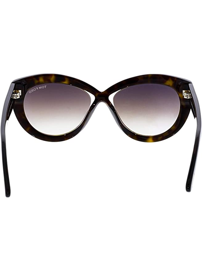 61934d6d0c2a4 2018 Tom Ford Diane-02 FT0577 52G Women Dark Havana Infinity Cat-Eye  Sunglasses at Amazon Women s Clothing store