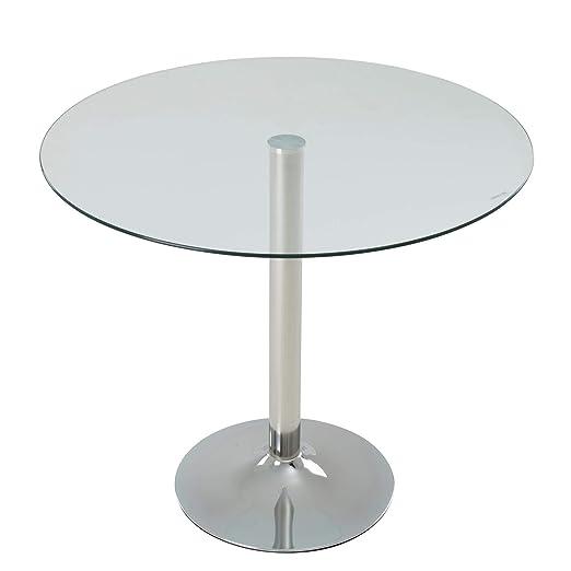 ESTEXO - Mesa de Comedor Redonda de Cristal, diseño Retro, Patas ...