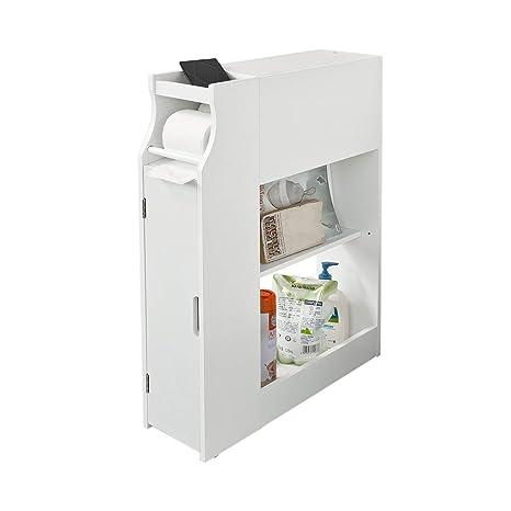 Mobiletto Porta Carta Igienica.Sobuy Frg52 W Mobiletto Bagno Per La Carta Igienica Porta