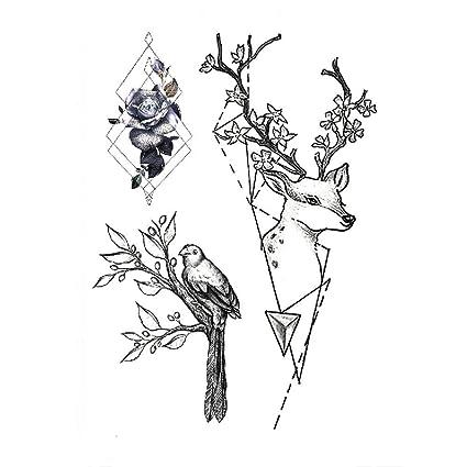 Brazo de flor pegatinas de tatuaje a prueba de agua flores en ...