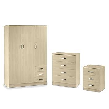 Outstanding Beech Bedroom Furniture Set 3 Piece Bedroom Furniture Home Interior And Landscaping Ponolsignezvosmurscom
