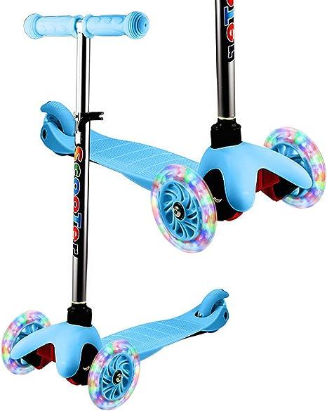 Amazon.com: YUEBO patinete para niños y niños, sin pilas ...