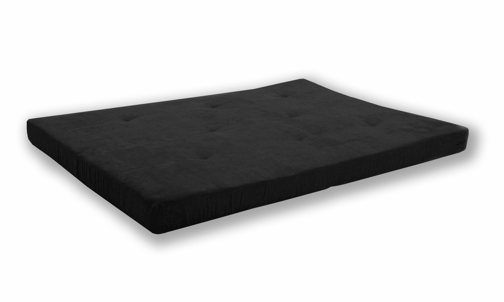 DHP Value 6 Inch Polyester Futon Mattress; Soft, Modern & Comfortable; Full Size, Black by DHP