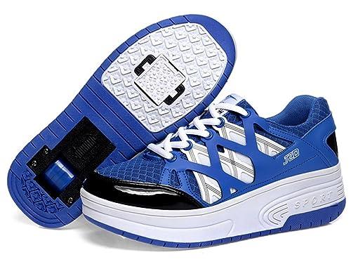 Zapatos de Ruedas Zapatillas Auto-párrafo Roller Zapatos Patines Deportes Zapatos Correr Para Niños Navidad Halloween Regalo: Amazon.es: Zapatos y ...