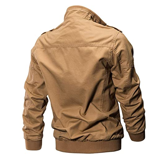 Amazon.com: KFSO Mens Casual Winter Cotton Military Jackets ...