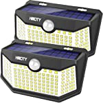 Hmcity Solar Lights Outdoor 120 LED with Lights Reflector and 3