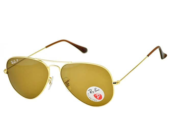 9d78ffcf35919 Amazon.com  Authentic Ray Ban RB3025 Replacement 140 mm Gold Temples ...