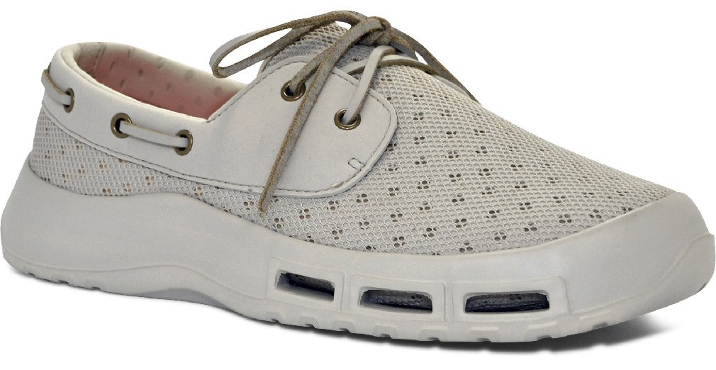 SoftScience Men's Fin Boating/Fishing Shoe, Color: Light Gray, Size: 13 (Mb000