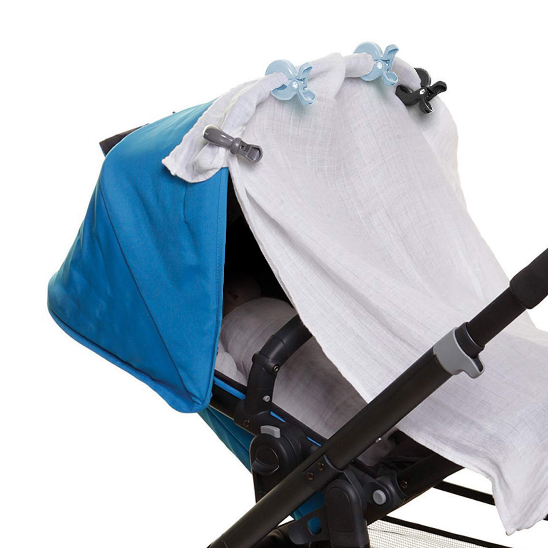 Elegear 6 Pack Anti-Skid Plastic Pegs Clips for Pushchair//Blanket Cover Clips//Pram Seat Cover Clips//Stroller Canopy Clips//Toy Holder Clips Black, Gray, Blue Pram Clips Stroller Hooks
