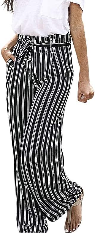 Pantalones Casuales De Mujer Con Estampado Floral Pantalones De Pijama Pantalones Playeros De Verano Con 2 Bolsillos Pantalones De Pierna Ancha Para Descansar Lookool Ro