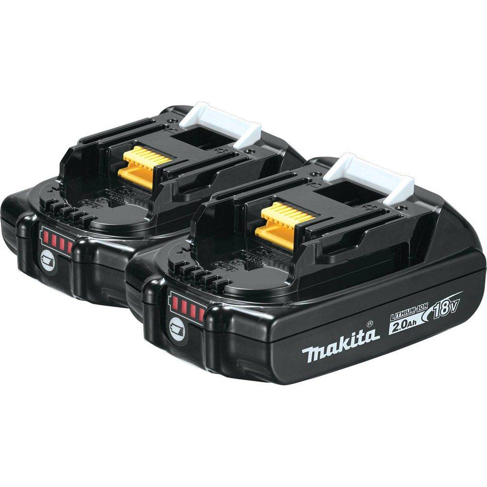 Makita BL1820B-2 18V Compact Lithium-Ion 2.0Ah Battery Twin Pack by Makita