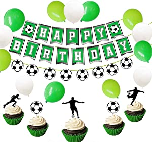 Set of 26 Soccer Birthday Party Banner Sports Banner Soccer Party Decoration Soccer Ball Birthday Banner Soccer Soccer Birthday Decorations Soccer Cake Decoration