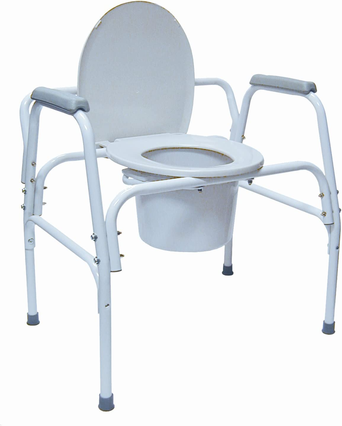 B000EXA4RC Duro-Med Bariatric Steel Commode with Assist Bars, Gray 61wFhXh4hML.SL1500_