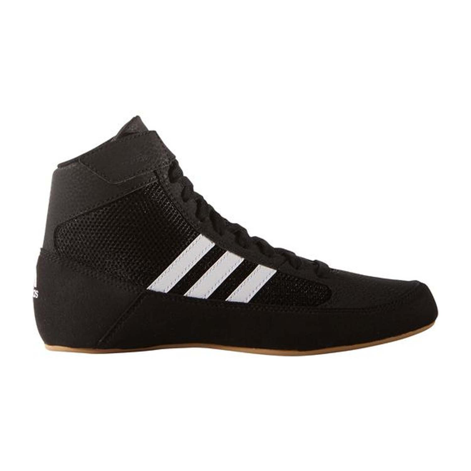 adidas HVC 2 Youth Laced Wrestling Shoes - Black/White/Grey - 2 by adidas