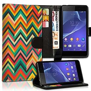 Wallet Wicostar–Funda Case Funda Carcasa diseño Funda para Samsung Galaxy S4VE i9515–Diseño Flip mvd125