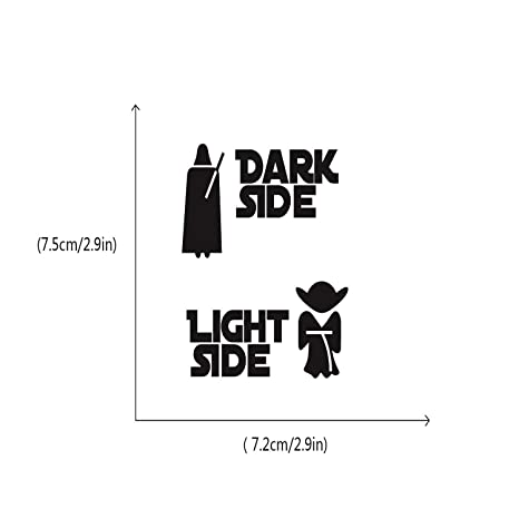 Chitop Star Wars Stickers Classic Movie Dark Side Light Side Switch Sticker - Cartoon Vinyl Wall