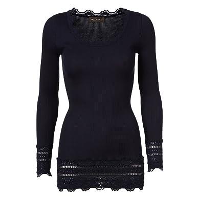 fb2e40d84ae062 Rosemunde Women's Silk Long Sleeve Top Navy S at Amazon Women's Clothing  store: