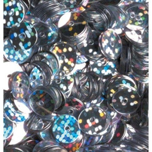 efco-Lustrini ologramma piatti rotondi, argento, 6 mm, 10 g, confezione da 1000 pezzi 1026992