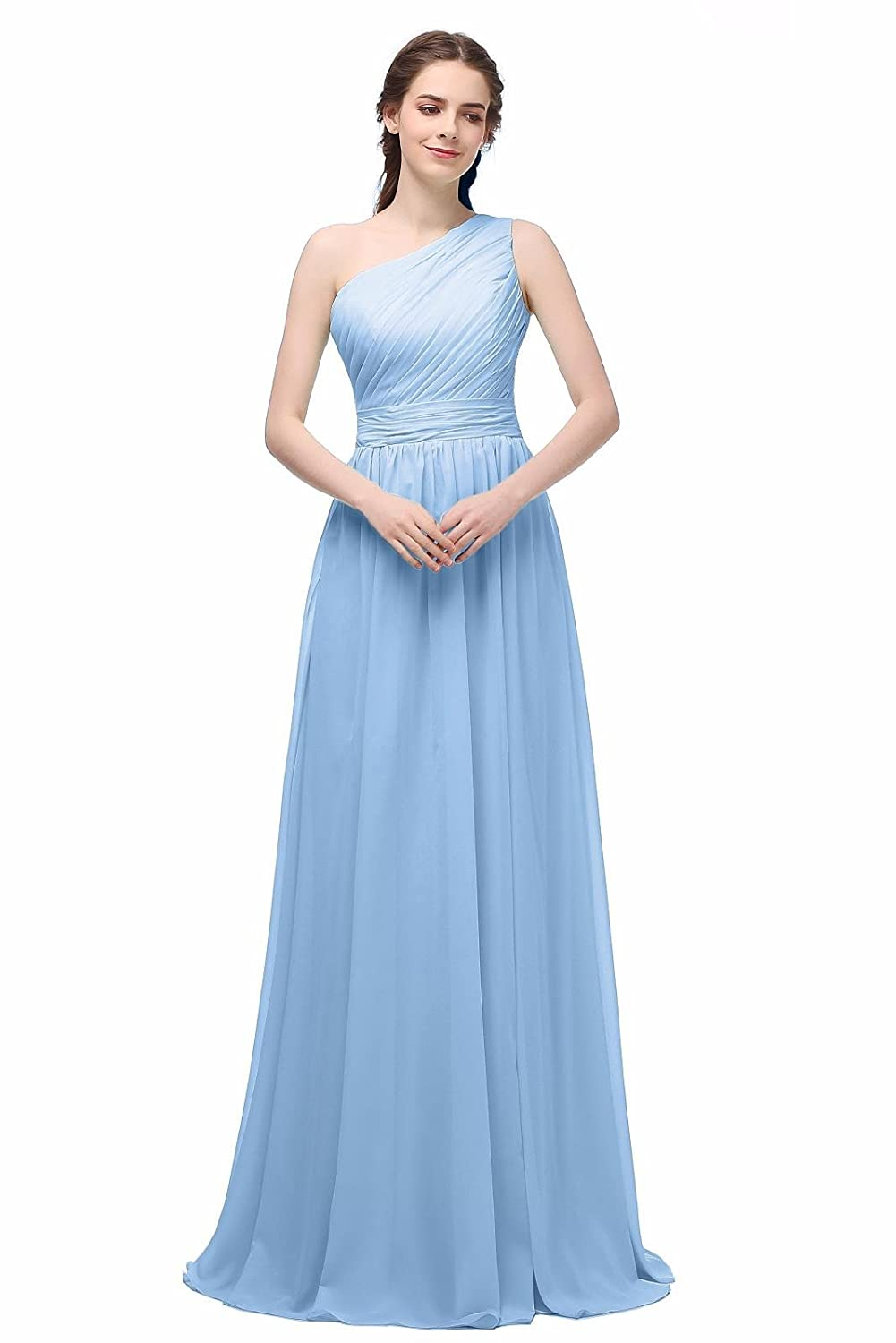 Ever Girl Women\'s Bridesmaid Chiffon Prom Dresses Long Evening ...