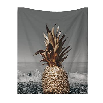 Piña tropicales y mar Imprimir pared Alfombras India Estilo Bohemio tapiz pared behänge pared de Mesa Decoración Mesa Toalla Playa Colcha 59*51in ...