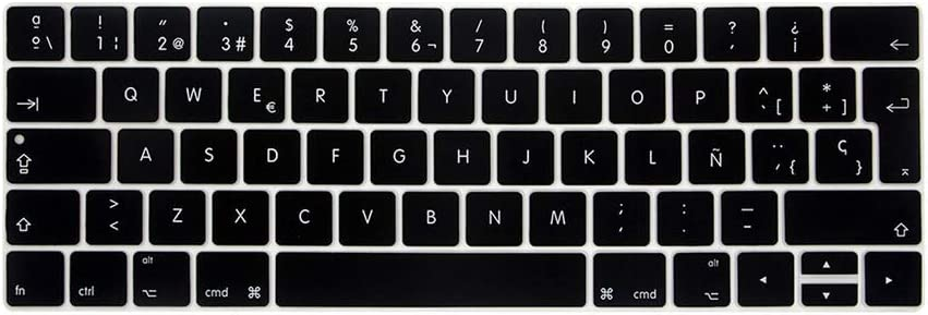 Spanish Keyboard Cover Protector Compatible for MacBook Pro 13 A2159 A1990 Compatible for MacBook Air 13 A1932 A1466 Keyboard Protective Film,A1465 A1370