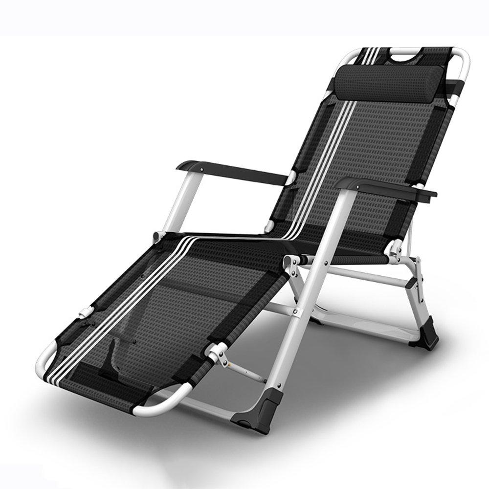 QFFL シンプルな強化実用的な折りたたみチェア/オフィスランチブレイクリクライニング/バルコニー妊娠中の女性オールドマンラウンジチェア/ガーデン屋外ポータブルビーチ背もたれの椅子 アウトドアスツール (色 : A) B07F5S1NCT A A