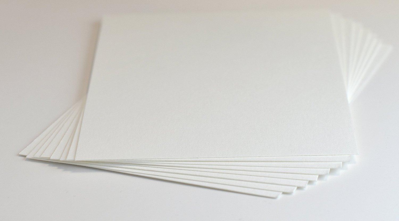Crane's Lettra 100% Cotton Paper 600gsm/220lb (100 Qty) (Pearl White, 4.5x6.25 (A6)) by Cranes Lettra