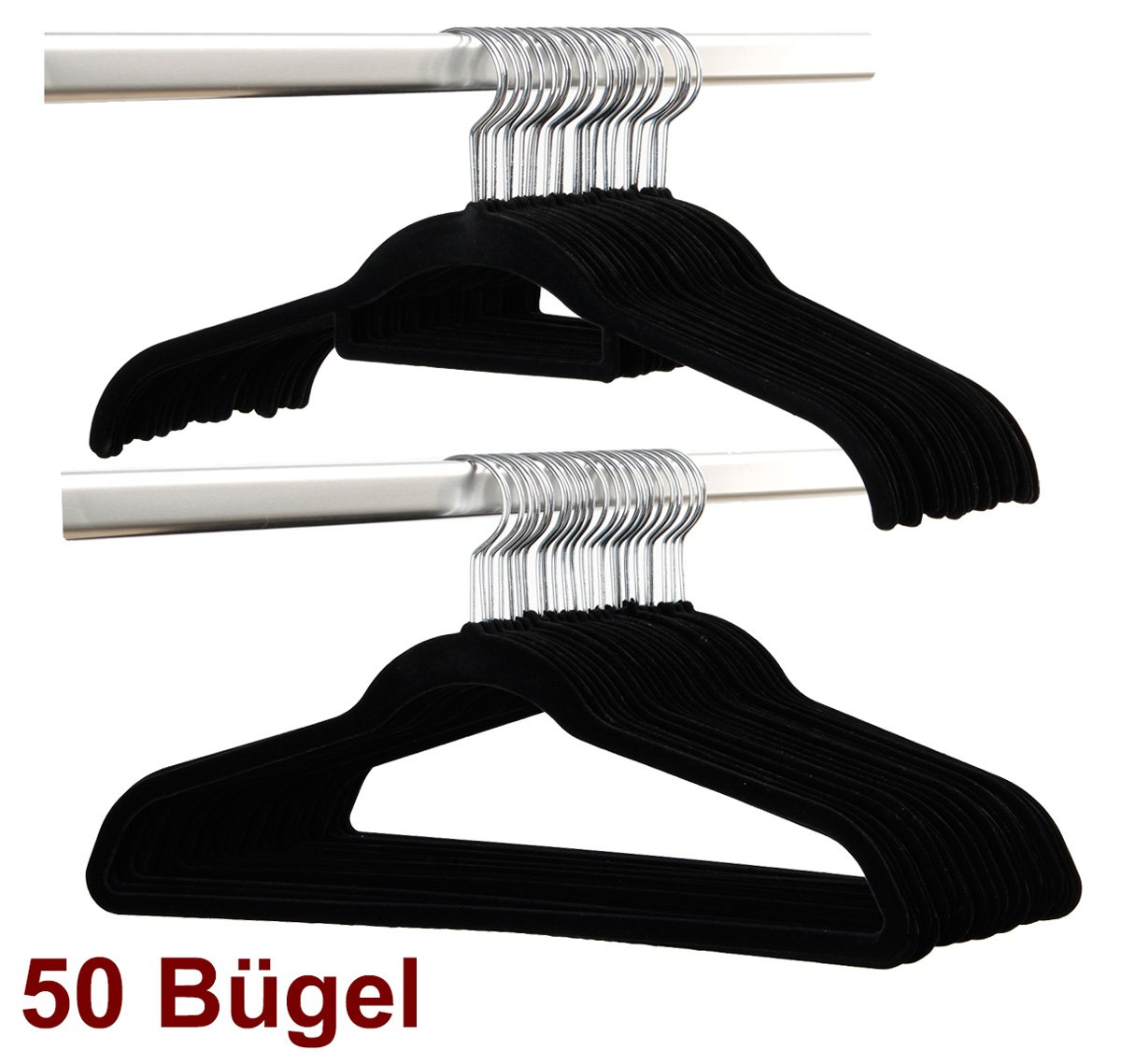 Smart-Hangers -50 Bügel- Schwarz / magic raumspar rutschfeste ...
